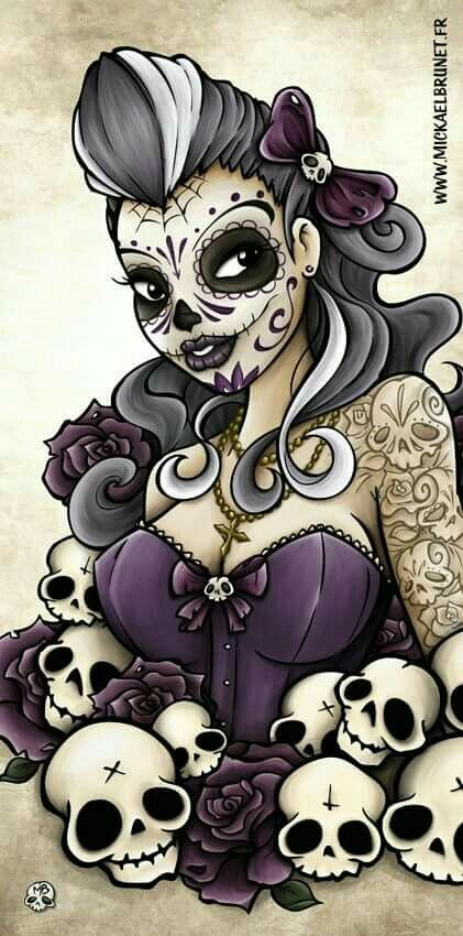 Sugar Skull pin up