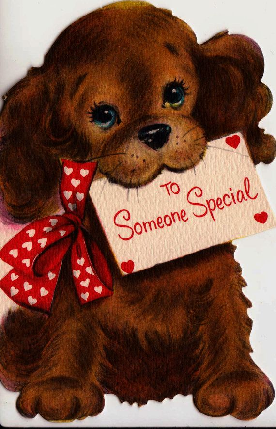 Vintage To Someone Special Doggy Valentine's by poshtottydesignz
