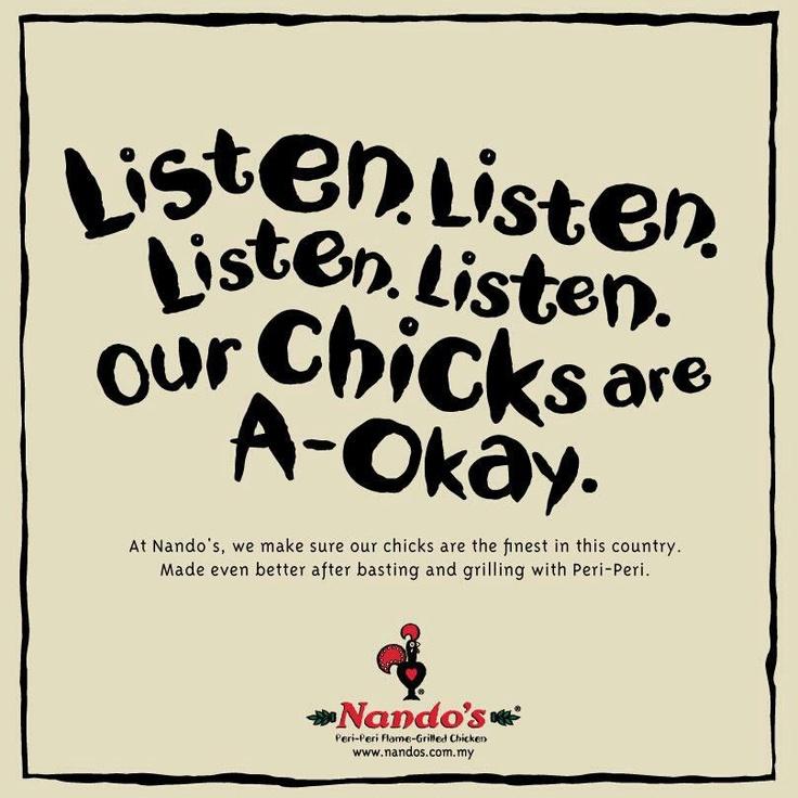 Nando's Malaysia ads #listen