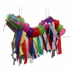 DIY CRAFTS KIDS  ~ Chinese dragon using solo cops and streamers ~  DIY ~  Supplies  Plastic cups  Card rolls  String  Glue stick  Dragon head picture (below)  Stick to tie the dragon to (eg satay skewer or chopstick)  Streamers or coloured paper strips