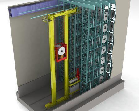 Dieses Hochregallager für Aluminium-Coils hat Platz für bis zu 1.300 Coils mit einem Gewicht bis 35 t. (Bild: Vollert Anlagenbau GmbH)