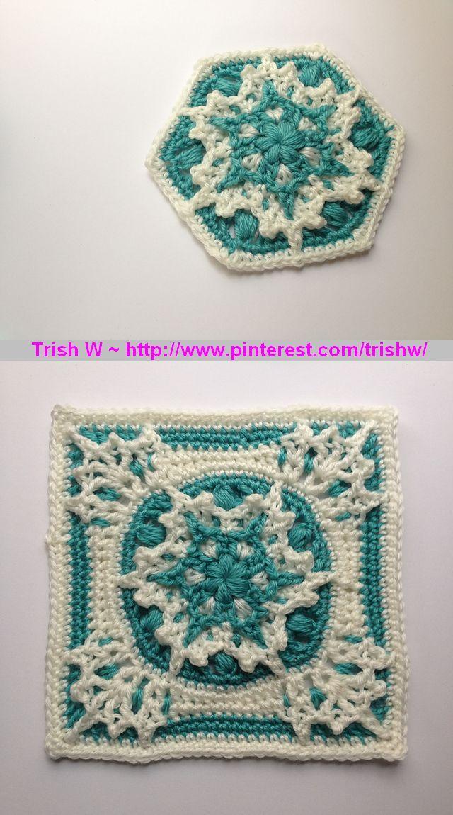 Snowflake Hexagon Crochet Pattern