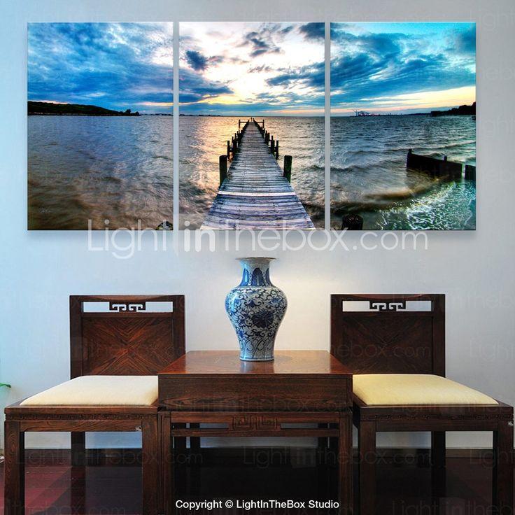 opgespannen doek zijt de kust decoratieve schilderkunst set van 3 - EUR € 68.76