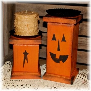 Wooden Pumpkin or Star Pillar- christmas tree on top or wooden bowl screwed to it, lot of possibilities