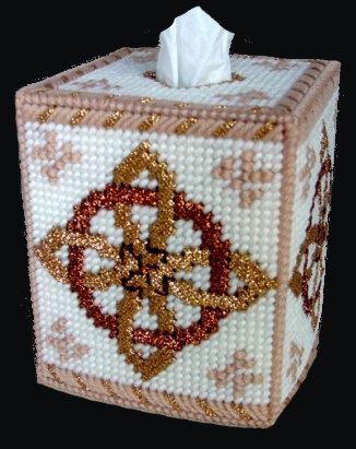 Beautiful Tissue Box Cover ANCIENT CELTIC KNOT by NiftyStitches4U