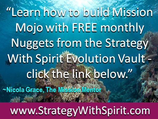 """""""Learn how to build Mission Mojo with FREE monthly Nuggets from the Strategy With Spirit Evolution Vault - click the link below."""""""