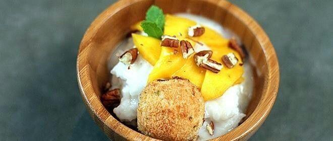 Kleefrijst met mango
