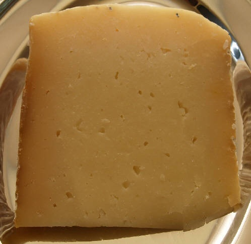 Kefalograviera Cheese [Greek]. Made from sheep milk (sometimes a mixture of sheep & goat milk), great for saganaki.
