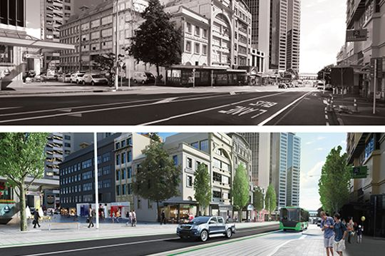Before and after albert street