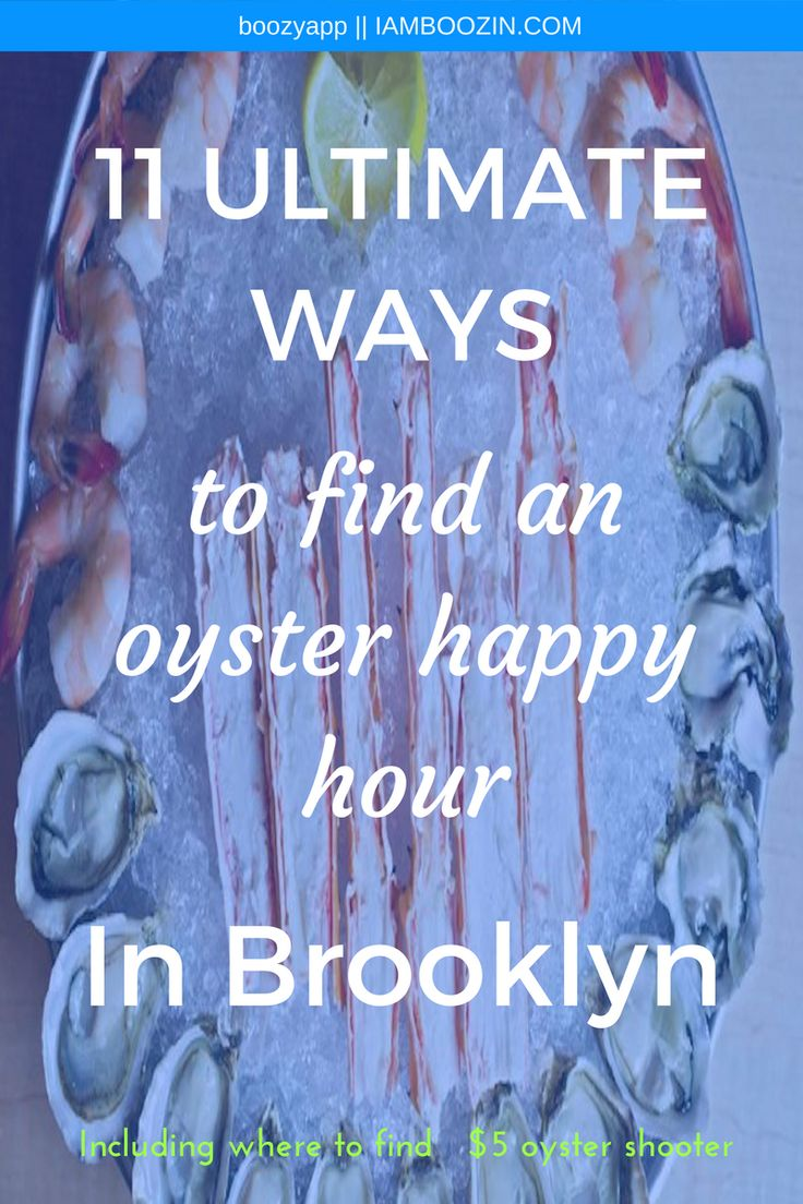 NYC Happy Hour Bar | 11 Ultimate Ways To Find An Oyster Happy Hour In Brookyln [including where to find $5 oyster shooters]...Click through for more  NYC Happy Hour Happy Hour NYC New York Happy Hour Happy Hour New York