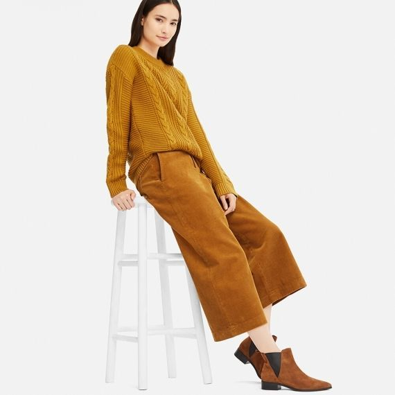 hot-selling official strong packing top style WOMEN Corduroy Wide Cropped Pants | Fashion in 2019 ...