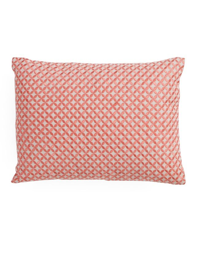 Flash Embroidered Cushion, in Sunset Pink. Adds an elegant touch to any room. £25. MADE.COM
