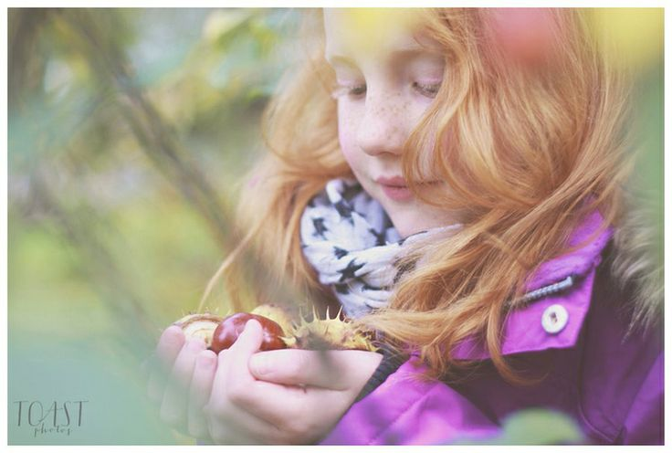 Autumn portrait with conkers and all.
