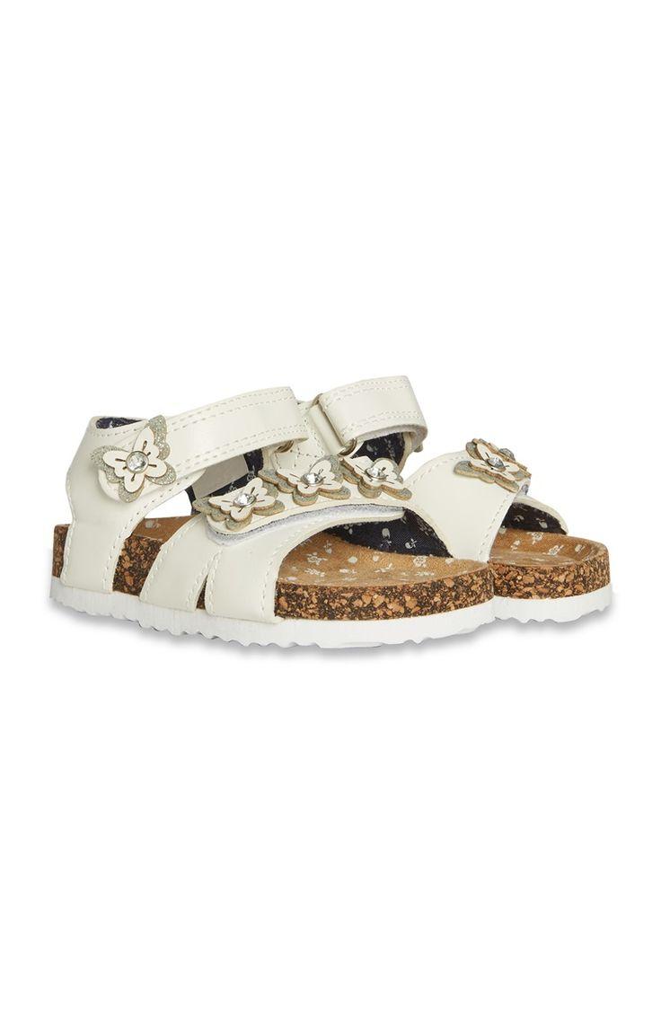 Primark - Witte sandalen met bloemetjes