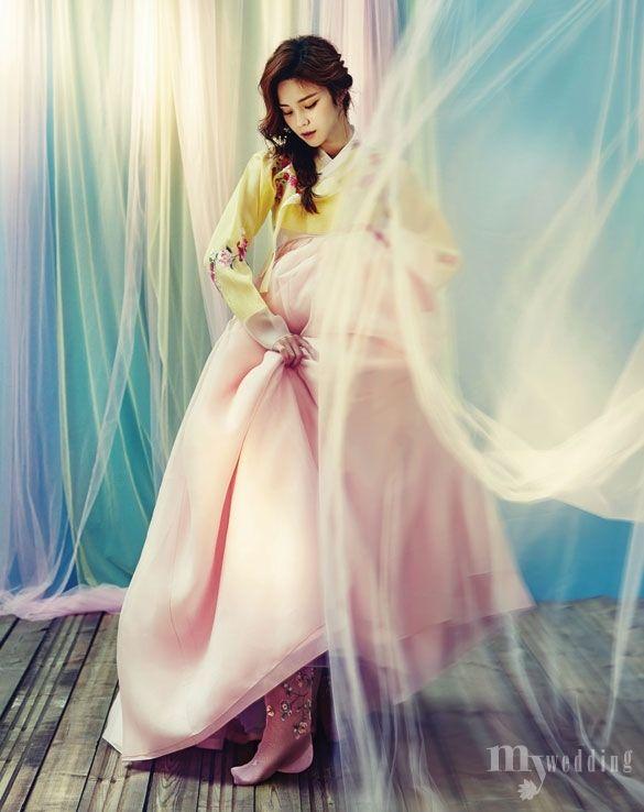 MYWEDDING KOREAN DRESS 고운 색에 취하다