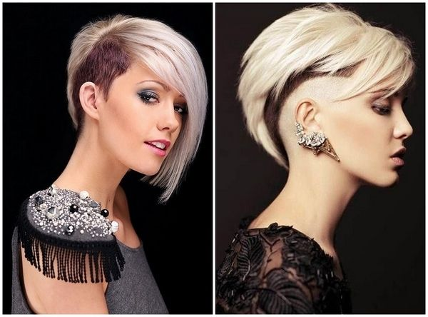 asymmetrical hairstyles for women with shaved side #hair #hairstyle