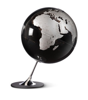 I definitely need one of these globes for my sexy Cold War spy lair. And a shark tank.