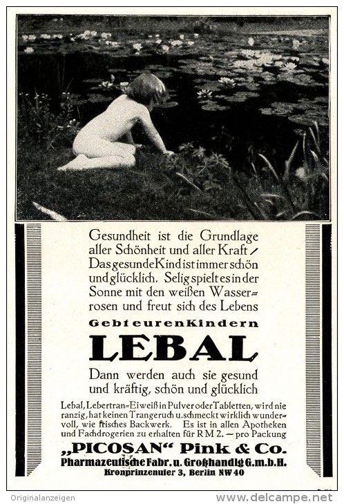 Original-Werbung/ Anzeige 1928 - LEBAL LEBERTRAN-EIWEISS / PICOSAN - PINK - BERLIN - ca. 100 x 150 mm