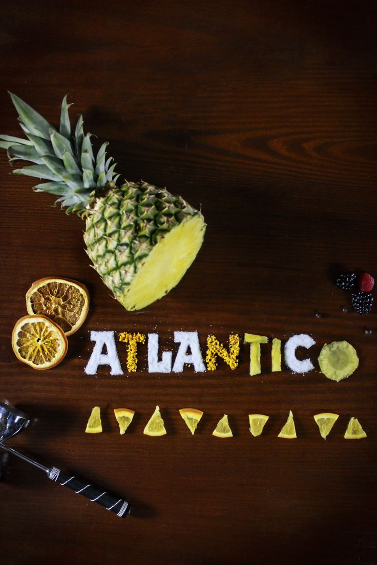 Atlántico Bar food lettering! (Mallorca Spain, Cocktail bar with a lot navy history) Click for creativity process!