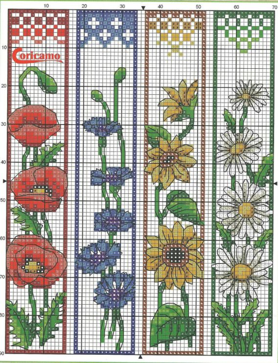 This is a photo of Wild Free Printable Counted Cross Stitch Bookmark Patterns