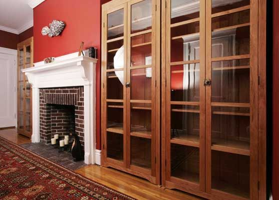 Handmade Cherry Wood Freestanding Bookcases