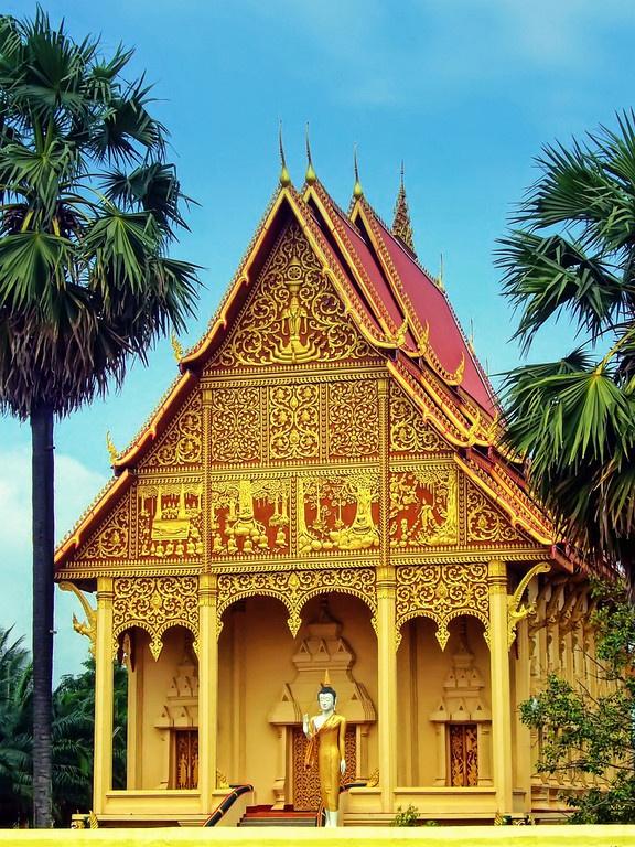 Bot at Wat Pha That Luang - Vientiane, Laos