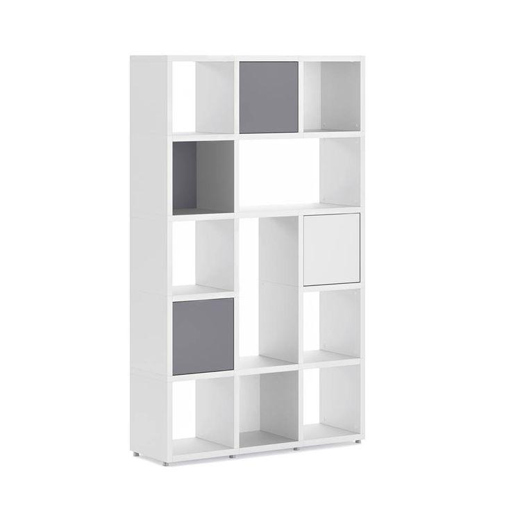 Etagere Cube Blanche Avec De Porte Ou Fonds Meuble Gris
