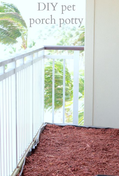 Diy Pet Porch Potty Pets Diy And Crafts And Apartments