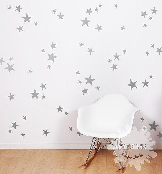 Taille 3 étoiles Wall Decal / Star décalque par OhongsDesignStudio