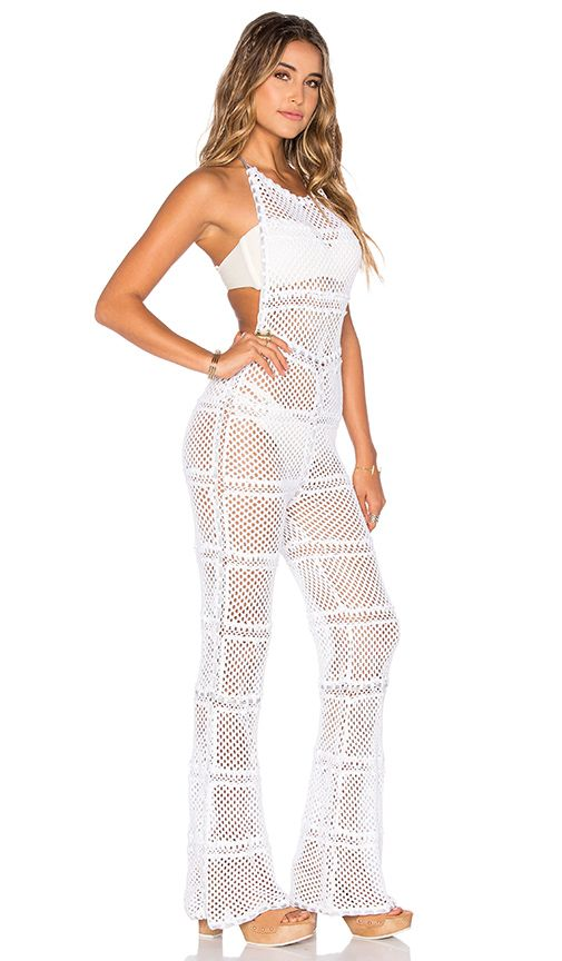 Shop for Indah Lee Crochet Jumpsuit in White at REVOLVE. Free 2-3 day shipping and returns, 30 day price match guarantee.