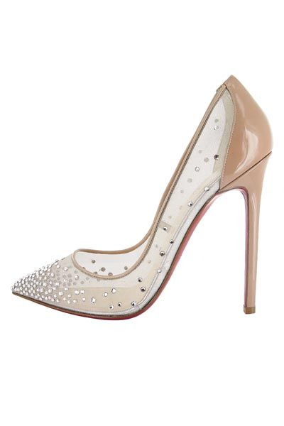 Christian Louboutin AW13 Body Strass 120 Patent Nude