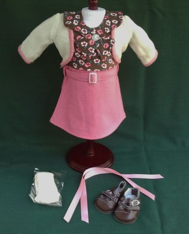 Retired American Girl KIT SCHOOL SKIRT SWEATER OUTFIT REPRO w SHOES and SOCKS #Unbranded