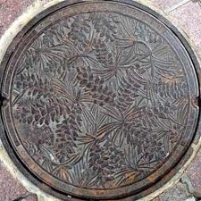 Manhole cover. Norway Pine, MN.