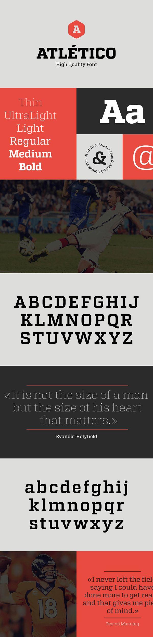 Gorgeous free slab serif #font Atletico
