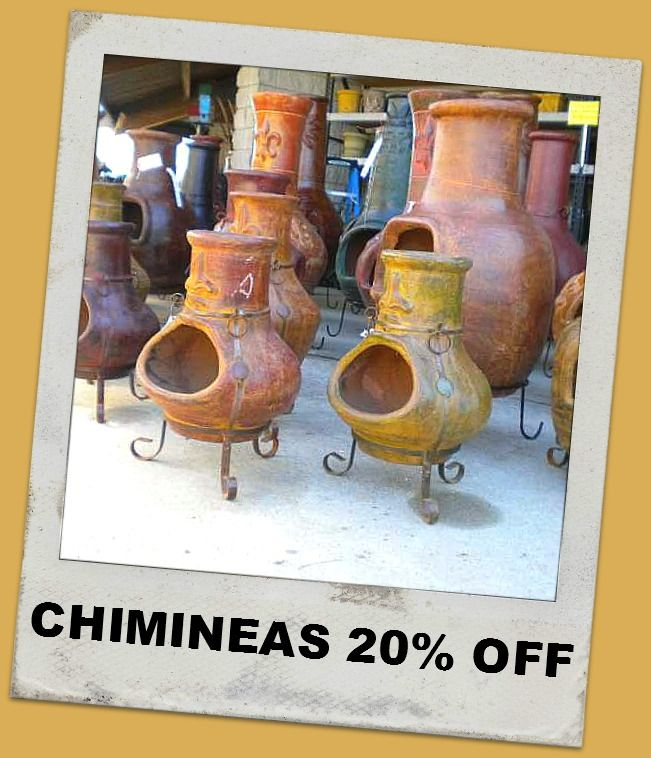 20% off chimineas at Market Imports in Raleigh! http://iheartretail.com/2012/09/24/sale-alert-chiminea-sale-at-market-imports/