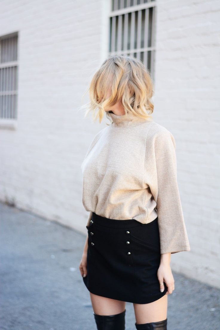 (skirt, top, and boots outfit): Go with it @nordstrom without breaking the bank @Nordstrom