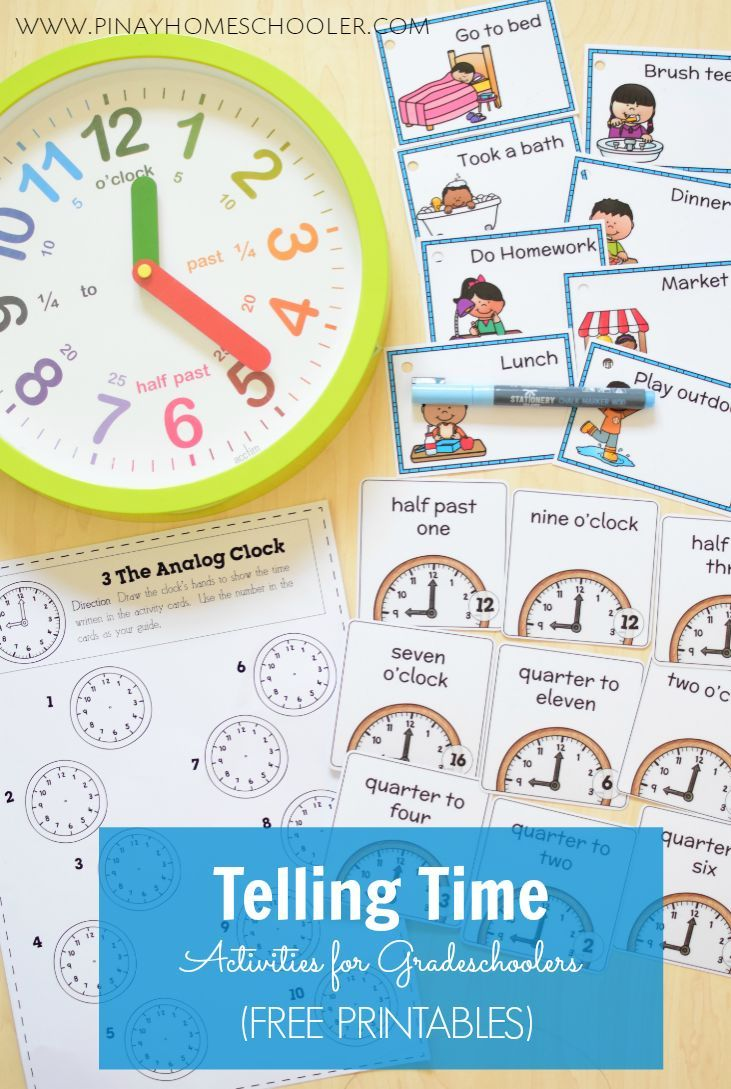 Telling Time Activities | Favorites from Teachers Pay Teachers ...