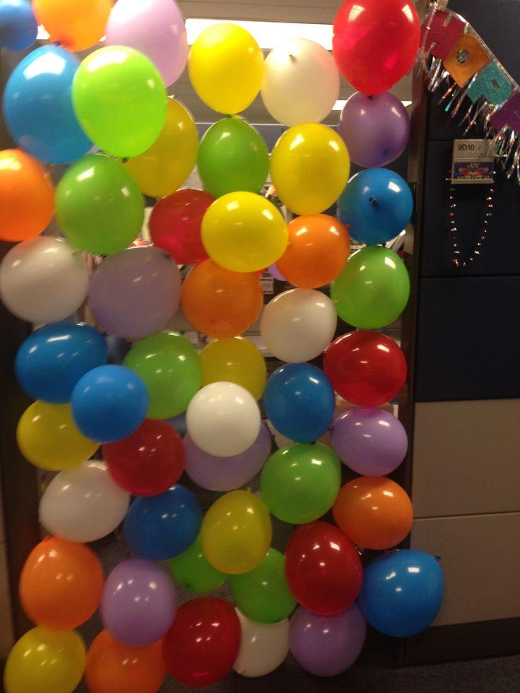 Birthday Decorations on Pinterest  Office birthday decorations ...