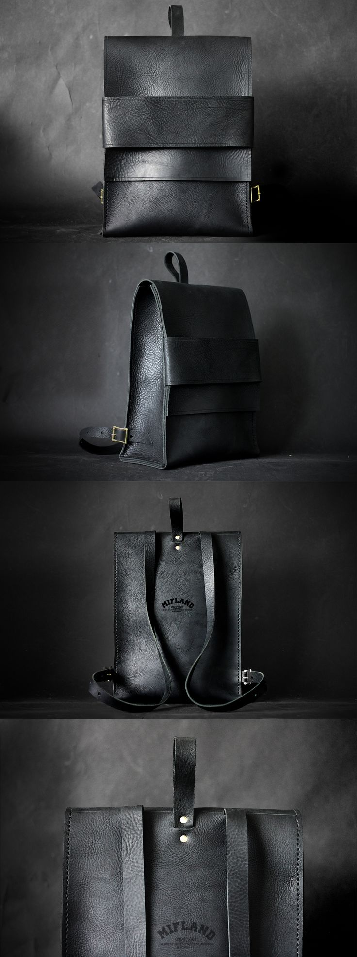 Visibly Interesting: Mifland Concept 1 Rucksack Available @ mifland.com $498 black leather bag
