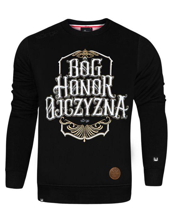 Bluza patriotyczna Bóg Honor Ojczyzna (CZARNA)