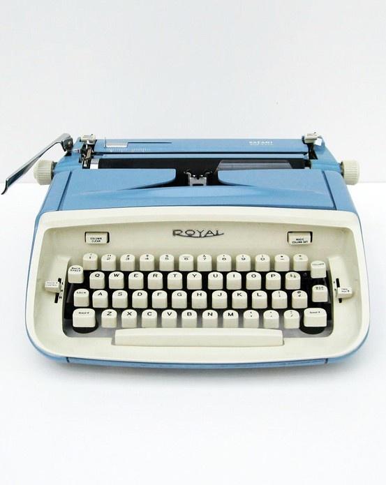 Baby blue typewriter