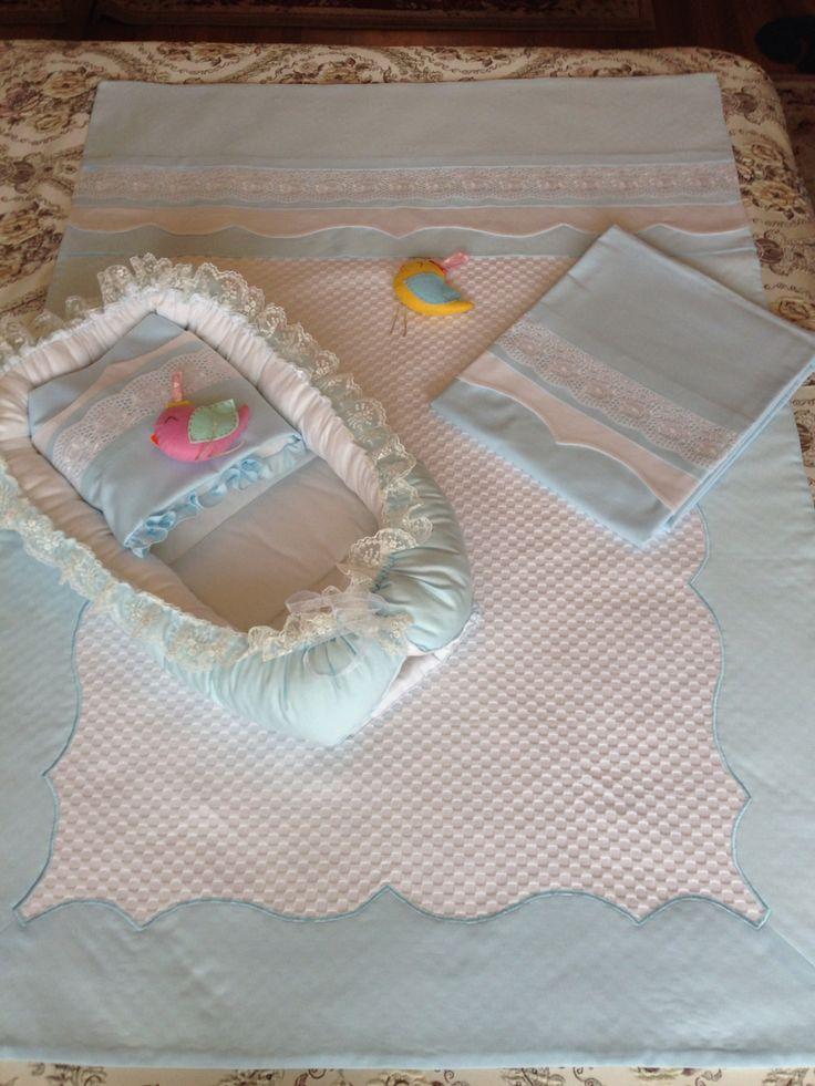 Maviş nevresim pike yastık çarşaf puset takımı