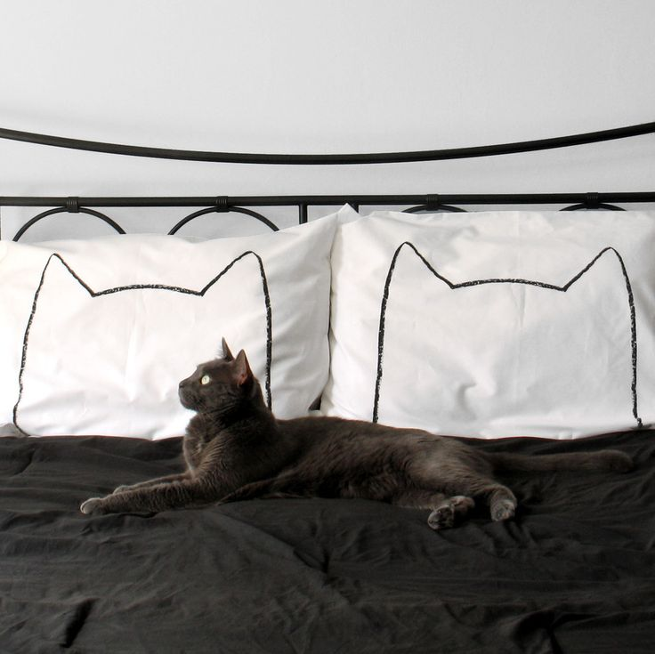I want to buy them, but I won't.  $32 // Cat Nap Pillowcase in White by Xenotees