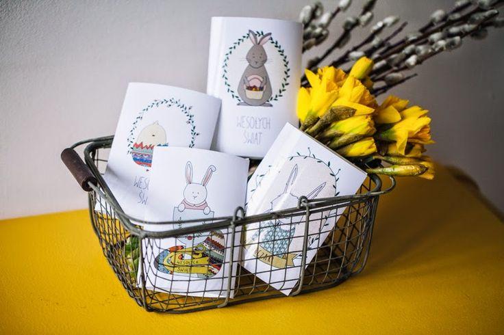 Wróblove   Skandynawski handmade: Darmowe kartki Wielkanocne do pobrania