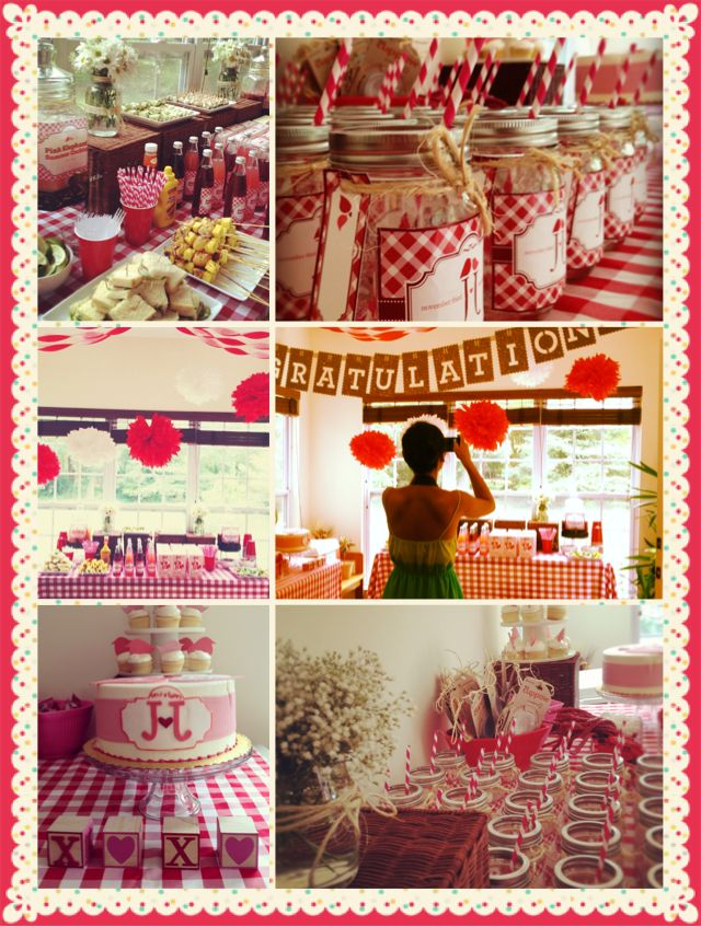 country style wedding shower ideas%0A country picnic theme bridal shower