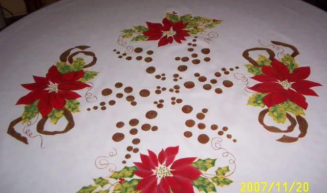 Manteles pintados a mano de navidad buscar con google - Manteles de navidad ...