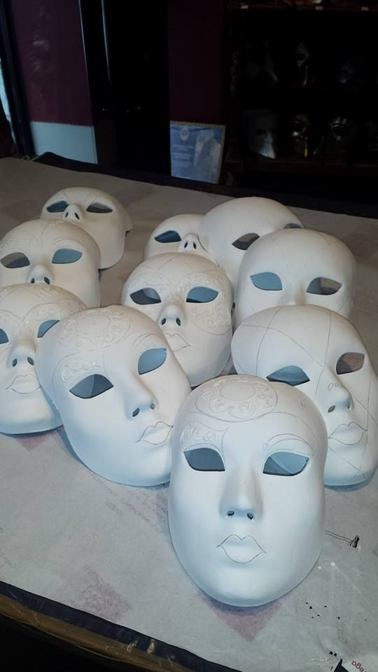Could you guess how these masks will look like once they'll be finished?