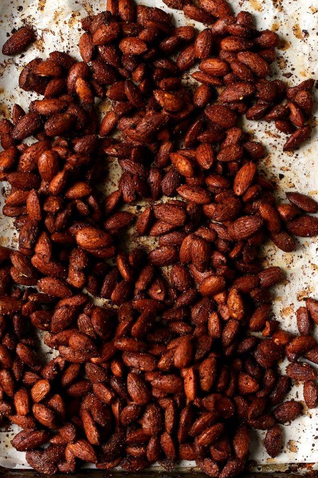 Maple Tamari Roasted Almonds | http://joythebaker.com/2015/04/maple-tamari-roasted-almonds/