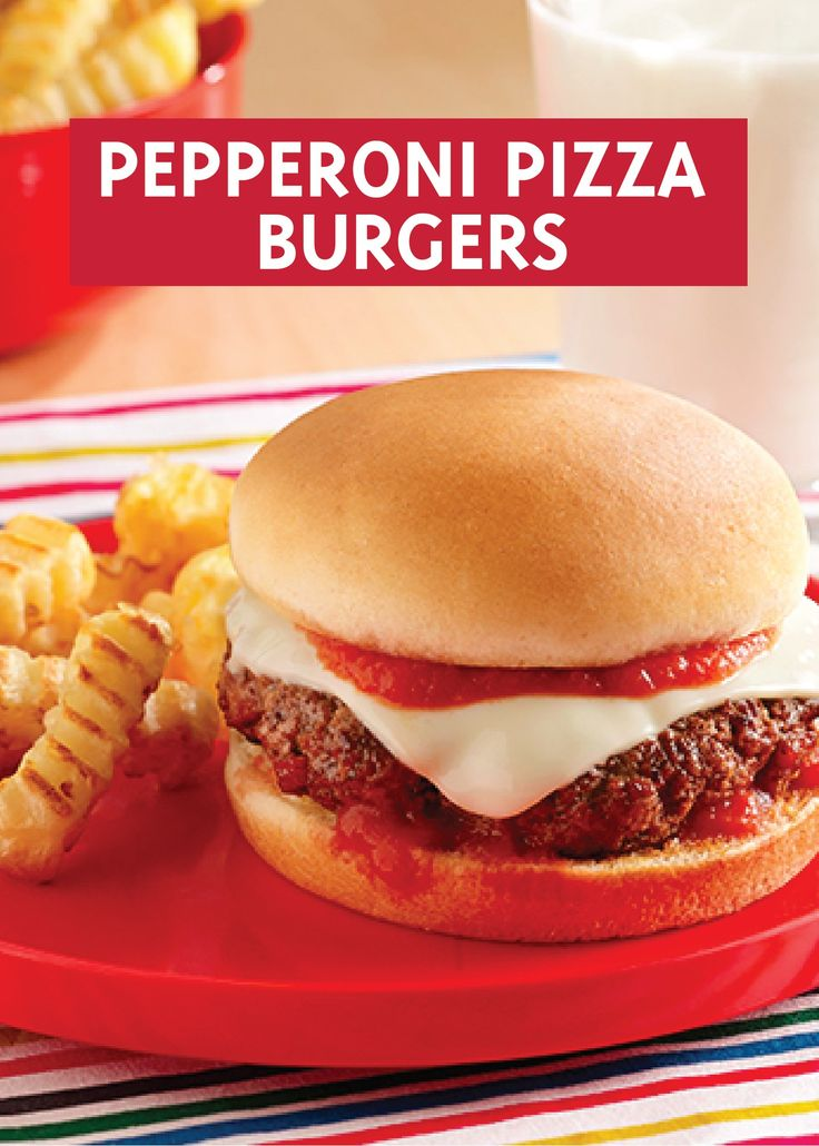 Pepperoni Pizza Burgers | Recipe | Pepperoni, Burgers and ...