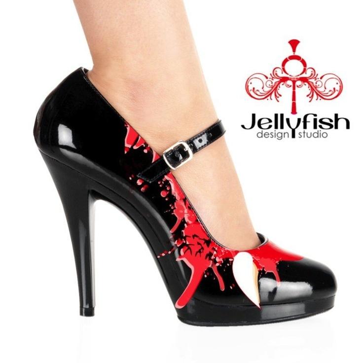 halloween vampire shoes